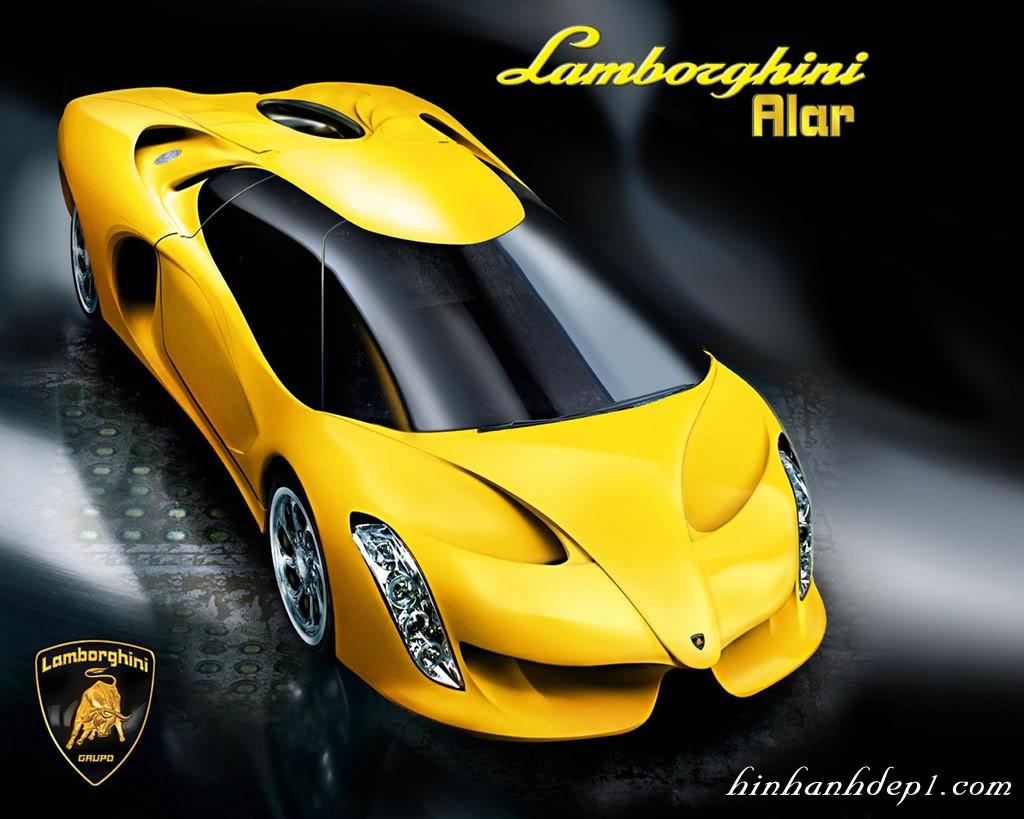Ảnh siêu xe Lamborgini biểu tượng con bò vàng