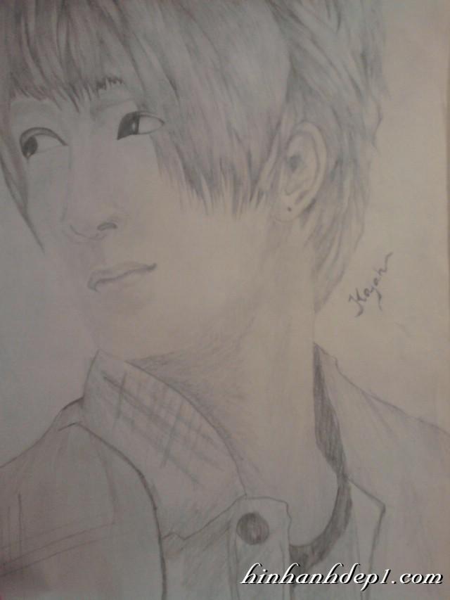 Hình vẽ chân dung một anh chàng đẹp trai bằng bút chì