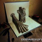 Tác phẩm tranh vẽ 3D đẹp của Nhật Bản
