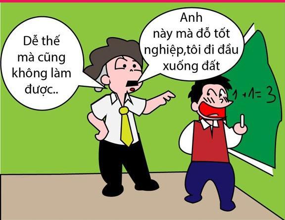 Ảnh hài hước chế vui nhộn những câu nói bất hủ của thầy cô (7)