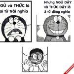 Ảnh chế vui Đô rê mon về sự đa dạng của tiếng Việt