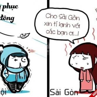 Ảnh vui về sự khác nhau giữa học sinh Hà Thành và Sài Thành