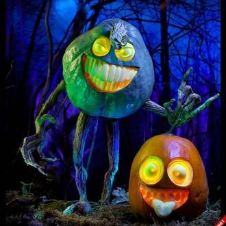 Ảnh những trái bí đỏ 3D cho ngày Halloween