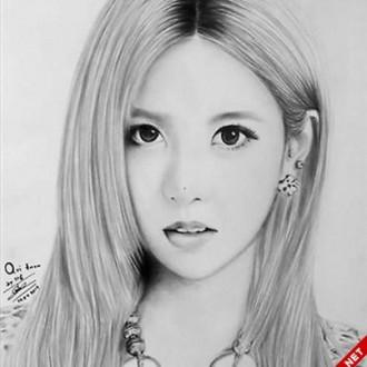 Hình vẽ những người đẹp của nhóm nhạc T-ara