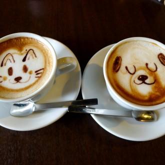Hình nền đẹp về tình yêu từ những ly cà phê