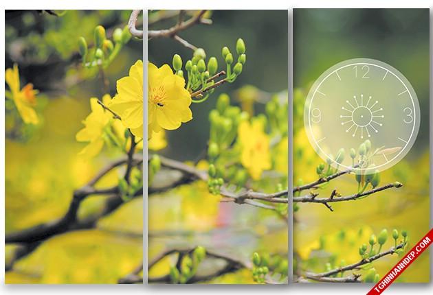 Rộn ràng sắc xuân với tranh treo tường hình hoa mai đẹp nhất
