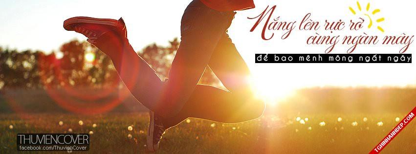 Ành bìa đẹp cho facebook chủ đề nắng ấm