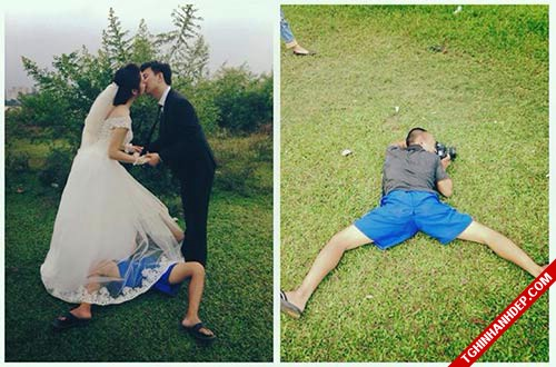 Bộ sưu tập ảnh hậu trường chụp hình cưới hài hước nhất
