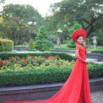 Gợi ý mẫu áo dài cưới đẹp cho cô dâu 2016