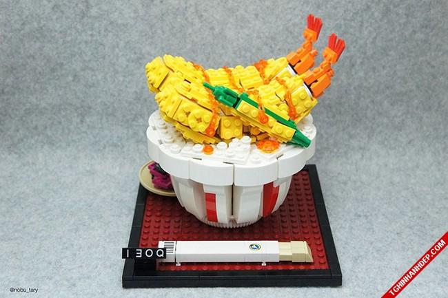 Đã mắt với hình ảnh đồ ăn làm từ những mảnh ghép lego