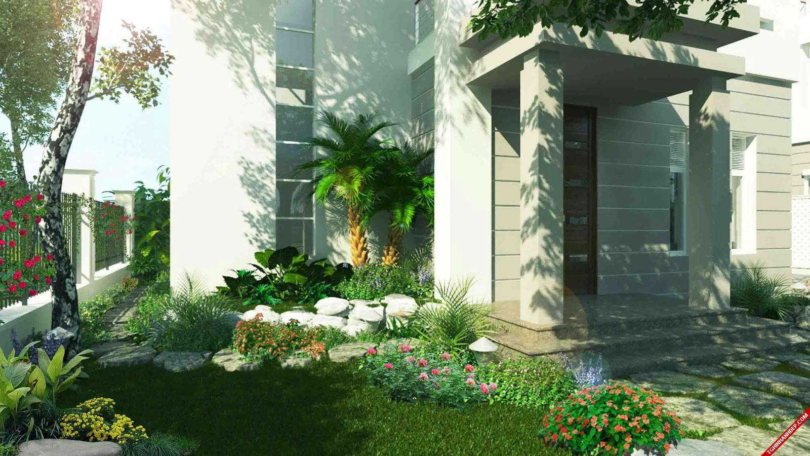 Nét đặc trưng riêng, thoáng mát với nhiều cây xanh được bố trí quanh nhà vườn