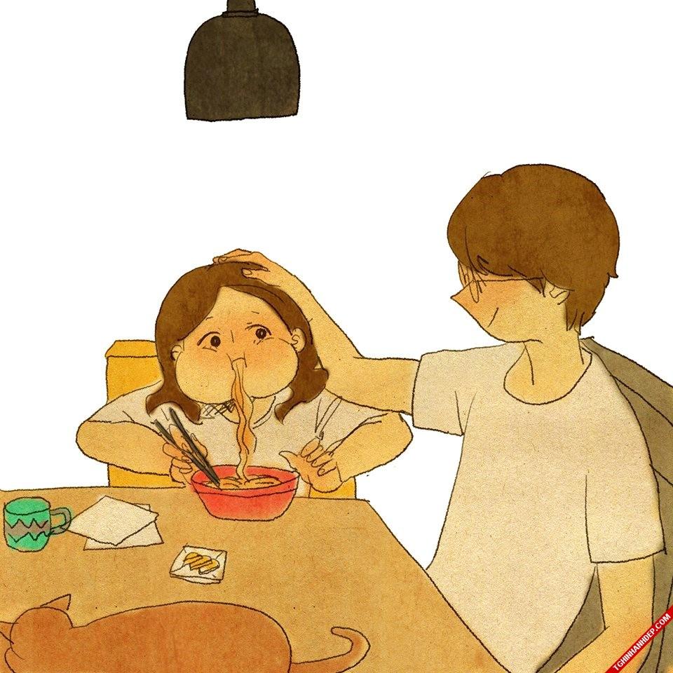 Những hình vẽ về tình yêu cute