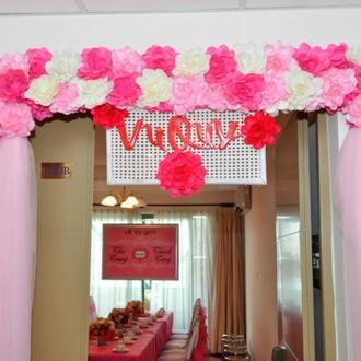Bộ sưu tập cổng hoa cưới bằng hoa giấy cực đáng yêu và đầy hiện đại